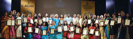 Awardees of TEA 2017 with Rita Wilson, Editor, The Progressive Teacher and K M Thomas, S Chand Publishing