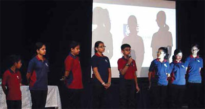 Students of Vidyashilp Academy share their dreams and career aspirations at the IC3 Regional Forum